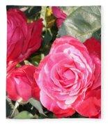 Sparkling Roses Fleece Blanket