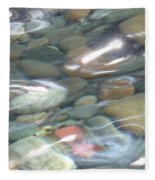 Sparkling Water On Rocky Creek 2 Fleece Blanket