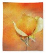 Sparkly Peach Rose Fleece Blanket
