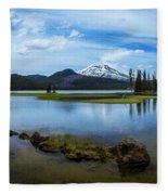 Sparks Lake, Oregon Fleece Blanket