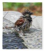 Sparrow Bath Time 9242 Fleece Blanket