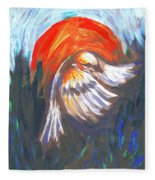 Sparrow In Flight Two Fleece Blanket