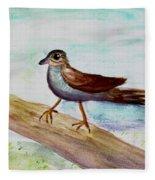 Sparrow On A Branch Fleece Blanket