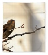Sparrow On A Limb Fleece Blanket