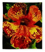Speckled Petunia Fleece Blanket