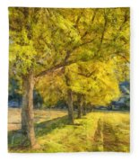 Spectacular  Fall Foliage Pencil  Fleece Blanket