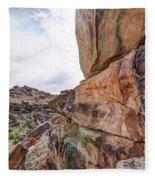 Spectral Light On The Cliffside Fleece Blanket