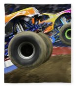 Speeding Tires Fleece Blanket