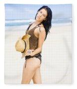 Spellbound Beach Beauty Fleece Blanket