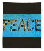 Spelling Peace Fleece Blanket