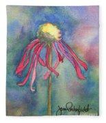 Spent Flower Fleece Blanket