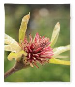 Spent Tulip Tree Blossom Fleece Blanket
