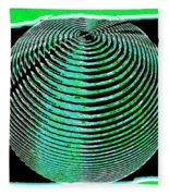 Sphere In Green Fleece Blanket