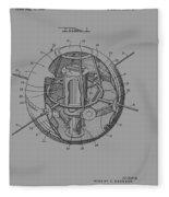 Spherical Satellite Structure Patent 1957 Fleece Blanket