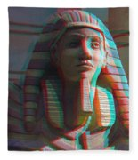 Sphinx - Use Red-cyan 3d Glasses Fleece Blanket