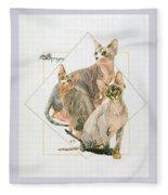 Sphynx Fleece Blanket