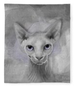 Sphynx No 19 Fleece Blanket
