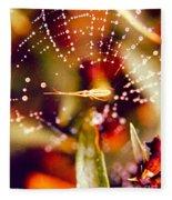Spider And Spider Web Fleece Blanket