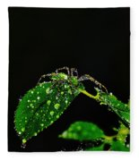 Spider In The Shower Fleece Blanket