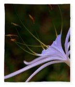 Spider Lilly Blue Fleece Blanket