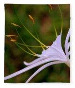 Spider Lilly Flower 2 Fleece Blanket