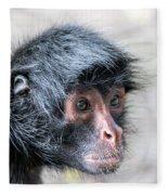 Spider Monkey Face Closeup Fleece Blanket