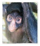 Spider Monkey Vertical View Fleece Blanket