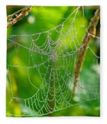 Spider Web Artwork Fleece Blanket