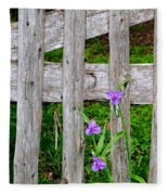 Spiderworts By The Gate Fleece Blanket
