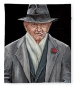 Spiffy Old Man Fleece Blanket