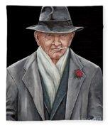 Spiffy Old Man Fleece Blanket