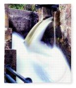 Spillway On The Canal Fleece Blanket