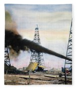 Spindletop Oil Pool, C1906 Fleece Blanket