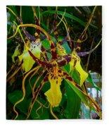 Spindly Orchid Fleece Blanket