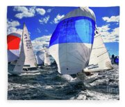 Spinnakers And Sails By Kaye Menner Fleece Blanket