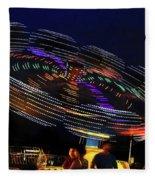 Spinning Lights Fleece Blanket