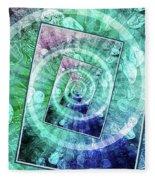 Spinning Nickels Into Infinity Fleece Blanket
