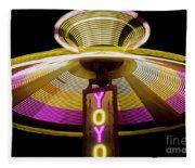 Spinning Yoyo Ride Fleece Blanket