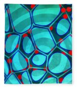 Spiral 4 - Abstract Painting Fleece Blanket