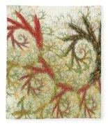 Spiral Embroidery Fleece Blanket