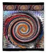 Spiral Frenzy Poster Fleece Blanket
