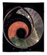 Spiral Glass Stairs Fleece Blanket