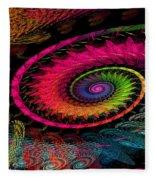 Spiral In  Spirals. Fleece Blanket