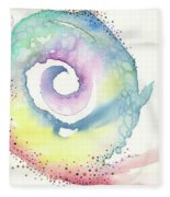 Spiral Of Emotions Fleece Blanket