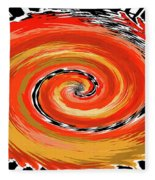 Spiral Of Fire Fleece Blanket