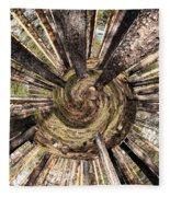 Spiral Of Forest Fleece Blanket