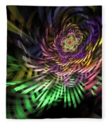 Spiral Rainbow Fleece Blanket