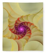 Spiral Rainbow Of Color Fleece Blanket