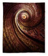 Spiral Staircase In An Old Abby Fleece Blanket