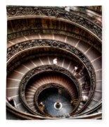 Spiral Staircase No1 Fleece Blanket